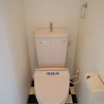 トイレも床も個性的!※写真は同タイプの別室。