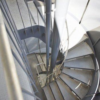 螺旋階段が素敵でしょ?