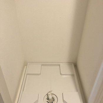 トイレのお隣に洗濯物置き場。