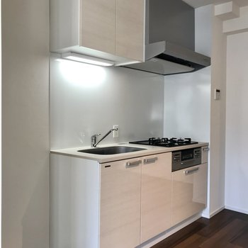 左に冷蔵庫を置けますよ。