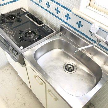 調理スペースはシンクボードなどを活用するといいかな。