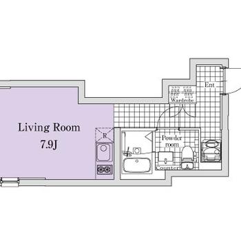 一人暮らしにピッタリのワンルームです