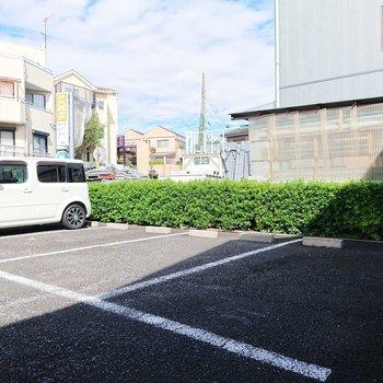 駐車場も敷地内にあるのがいいですね。
