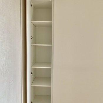 【洋室】こちらの収納には小物雑貨などを