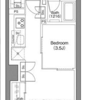 南向きの2階のお部屋です。
