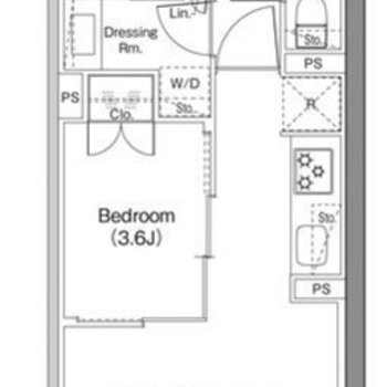 1Rのようにもなるお部屋。