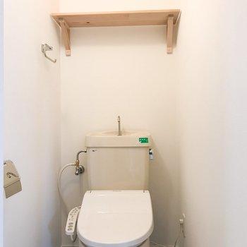 トイレはウォシュレットつき!※写真は似た間取り別部屋です
