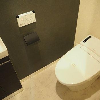 ここはトイレ。ウォシュレット機能付き
