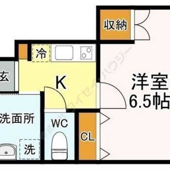 収納が洋室内に2箇所あります。