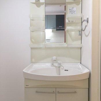 普通の洗面台が使いやすいんです ※写真は同間取り、別部屋のもの