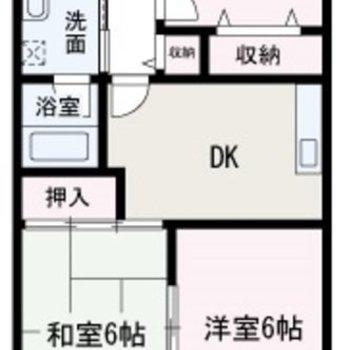 広々とした3DKのお部屋です。