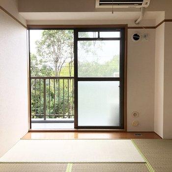 【和室6帖】窓を開けてごろんとするのも気持ちよさそうな畳です。