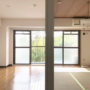 DK部分から洋室と和室に入ることができます。