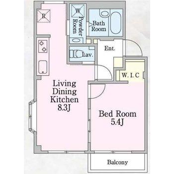 ※こちらのお部屋は、画像の反転間取りです。