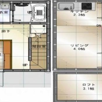 3層になったメゾネットタイプのお家です。