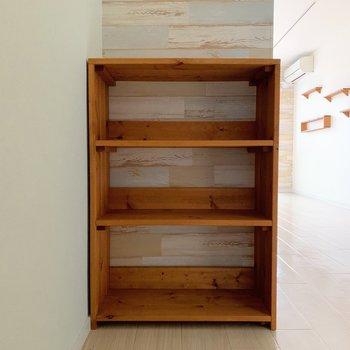 木のシューズボックスがまた、かわいいんだこれが!
