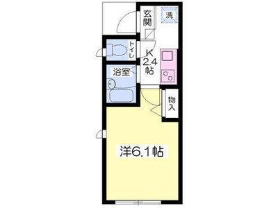武蔵小金井17分アパート の間取り