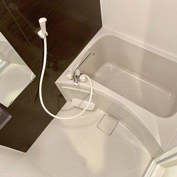 浴室乾燥機も付いているんです。※写真は4階の同間取り別部屋のものです