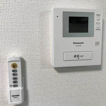 モニター付きインターホン シーリングライトの調光用リモコン