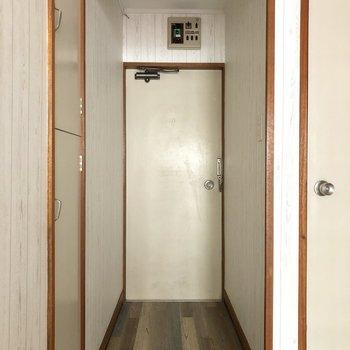 フラットな玄関です。