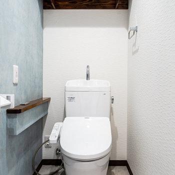 爽やかな印象のトイレ。