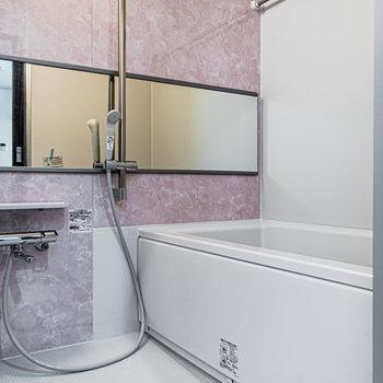 浴室。大きな鏡が嬉しい。