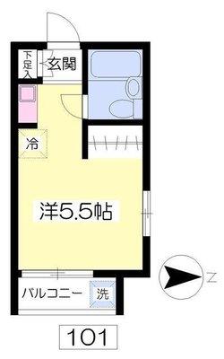 東長崎7分アパート の間取り
