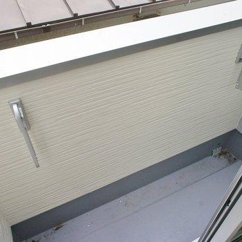 バルコニーは狭めですので。※写真は202号室のもの