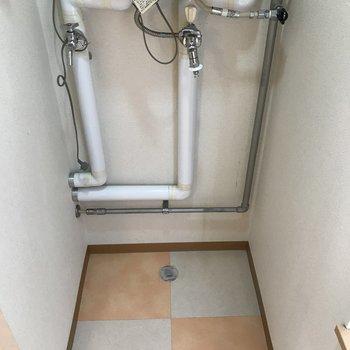 室内洗濯機置場 充分なスペース
