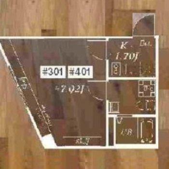 居室は台形のようなカタチ。ややコンパクトです。