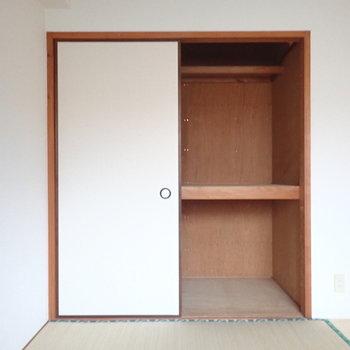 和室の押入れには大きい荷物を。