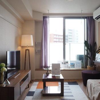 家具が置いてあっても余裕がありますね!※写真は4階の同間取り別部屋のものです