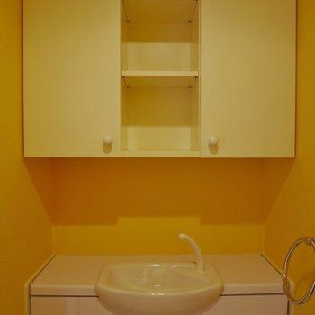 トイレにもしっかり収納付き!※写真は同タイプの別部屋