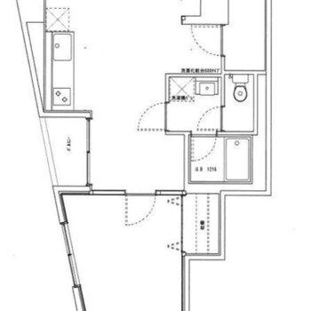 上の広い部分を【LDK】、下のお部屋を【洋室】としてご紹介します。