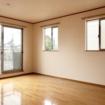 【LDK】なんと窓が3つ。風がとっても心地いい~。
