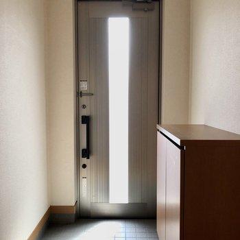 玄関ドアからも光が入ってきて明るいです。