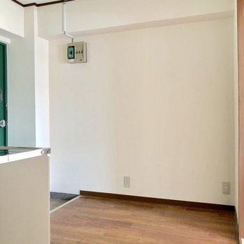 玄関の横にシューズボックスが置けそう。靴の量に合わせたサイズを用意できます