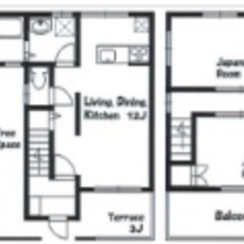 1階に水回り、2階が寝室ですね!