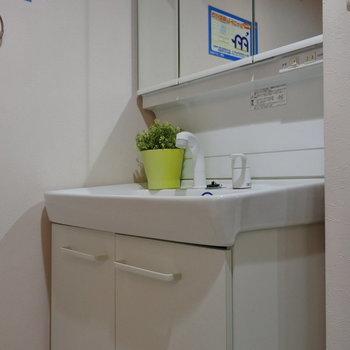 洗面もゆったり使えます◎(※写真は2階の同間取り別部屋、モデルルームのものです)