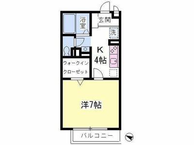 長津田15分アパート の間取り