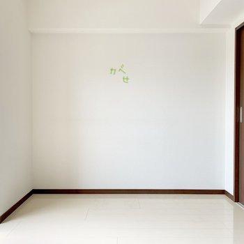 壁寄せで家具が置きやすい。(※写真は清掃前のものです)