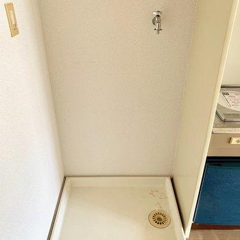 キッチン横に洗濯機置場。