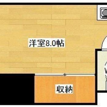 実際とは反転の間取りで収納の位置が若干異なります。