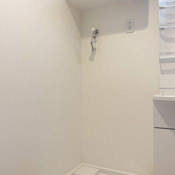その隣に洗濯パン(※写真は6階の同間取り別部屋のものです)