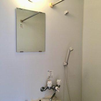 浴室乾燥機付き。うれしい〜