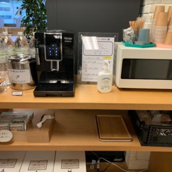 共有部にはコーヒーマシンも完備◎