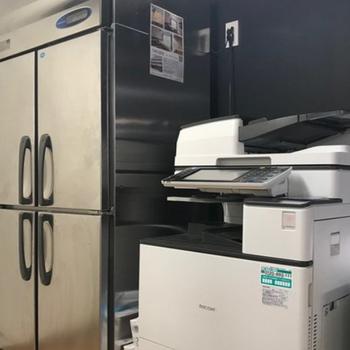 冷蔵庫やプリンターもしっかりと