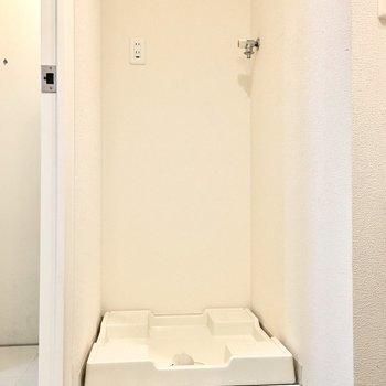 洗濯機置き場はちゃんと室内に。