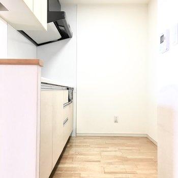 キッチンはゆったりと。