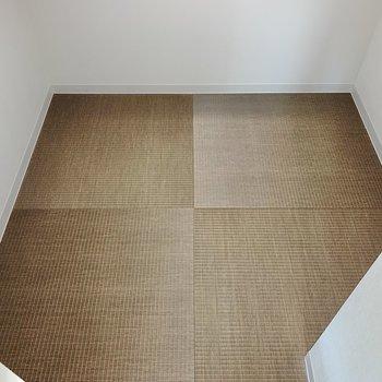 収納の中まで琉球畳。起床後、洋服をもって下へ行くのがスムーズそう。